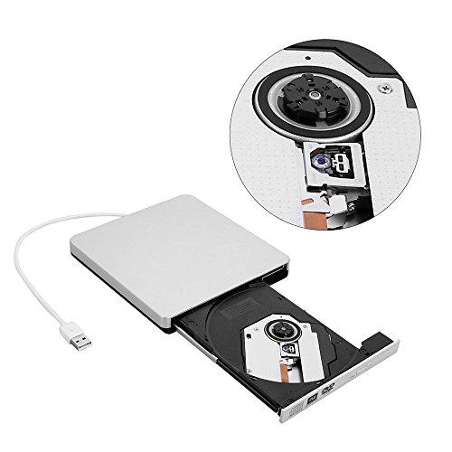 TOPTRU External CD Drive USB 2.0 DVD Burner Reader Recorder Writer Rewriter for Win10/Win8/Apple Macbook Pro, Desktop, Laptop,Notebook by TOPCHU (Image #1)