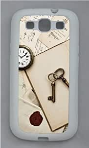 Vintage Staff Custom Design Samsung Galaxy S3 Case Cover - TPU Silicone - White