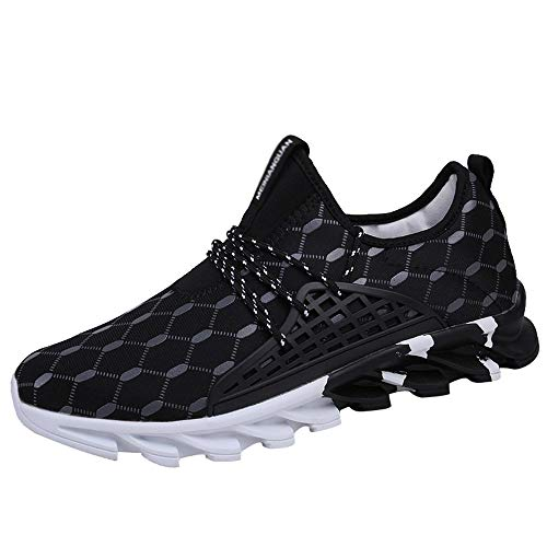 Sherostore ♡ Mens Casual Walking Shoes Blade Outdoor Sport Sneakers Mesh Breathable Fashion Shoe for Running Gym Black