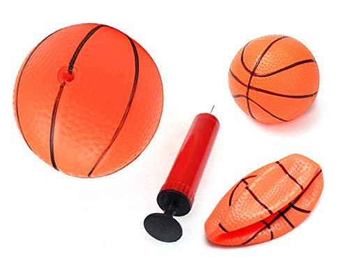PowerTRC 空気注入式 マジックショット ミニフープ 屋内 オレンジ バスケットボール ウィットポンプ 男の子 ミニスポーツボール おもちゃ 対象年齢3~7歳 B07QX1R64R