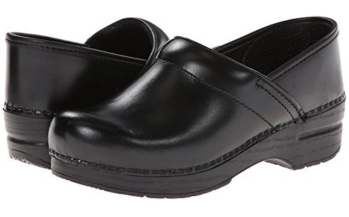 - Dansko Women's Professional Pro Cabrio Leather Clog,Black,37 EU / 6.5-7 B(M) US