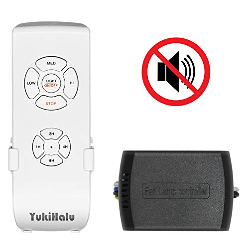 YUKIHALU Small Size Beep Off Option Universal Ceiling Fan Remote Control kit, Wireless Remote Controls with Timing
