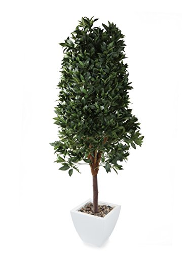 Closer2Nature Artificial 6ft Bay Tree Pyramid Topiary - Pot and Stones Not Included