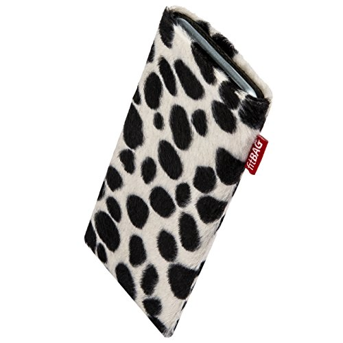 fitBAG Bonga Dalmatian Custom Tailored Sleeve for HTC Bravo. Fine Imitation Fur Pouch with Integrated Microfibre Lining for Display Cleaning