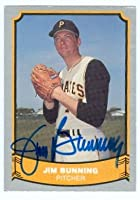 Autograph Warehouse 22497 Jim Bunning Autographed Baseball Card Pittsburgh Pirates 1988 Pacific Baseball Legends Card