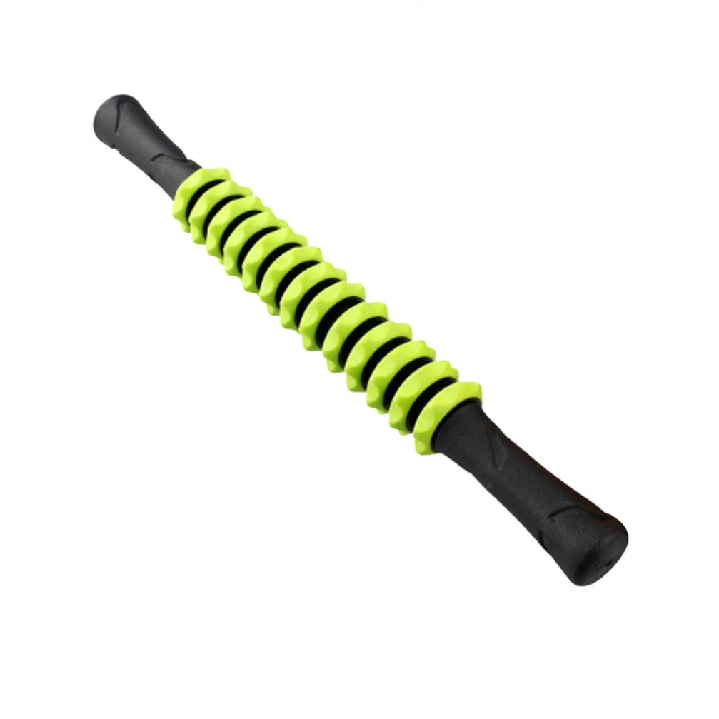 Green Healifty Muscle Roller Stick Body Massage Roller Back Leg Muscle Massager for Athletes Relieve Muscle Soreness Tightness Leg Cramps Back Pain