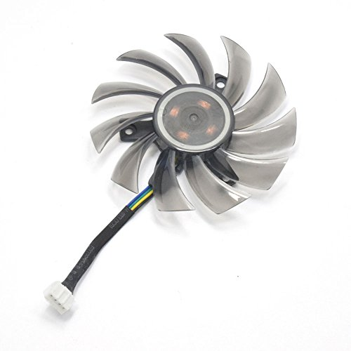 inRobert 75mm T128010SU Graphic Card Fan Replacement Cooler for Gigabyte NVIDIA GeForce GTX 760 770 780 670 580 GPU (1pc)