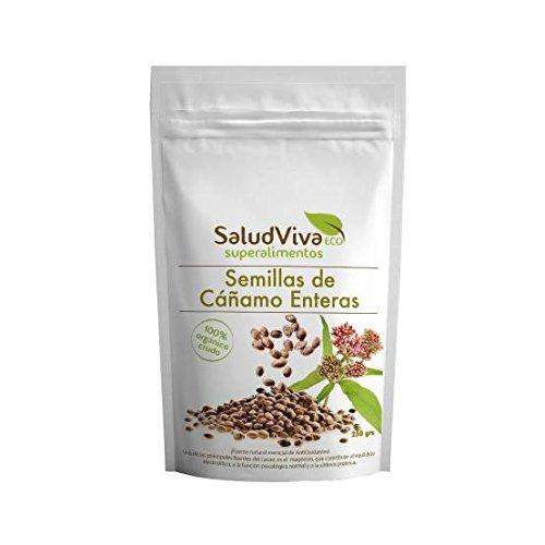 Semillas de cáñamo enteras ECO 250 g, Salud Viva: Amazon.es ...