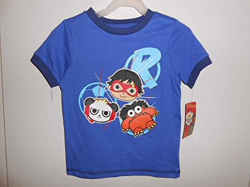Ryan's World Pocket Watch Boy's Graphic Novelty Tee Shirt - Panda, Moe, Red Titan - Titan Shirt Pocket