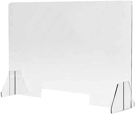 HSBAIS Mampara De ProteccióN, Transparente Acrílico Mampara mostrador Plexiglás Mampara para farmacias Mampara de Seguridad contra los Estornudos y la Tos,40x50cm: Amazon.es: Hogar