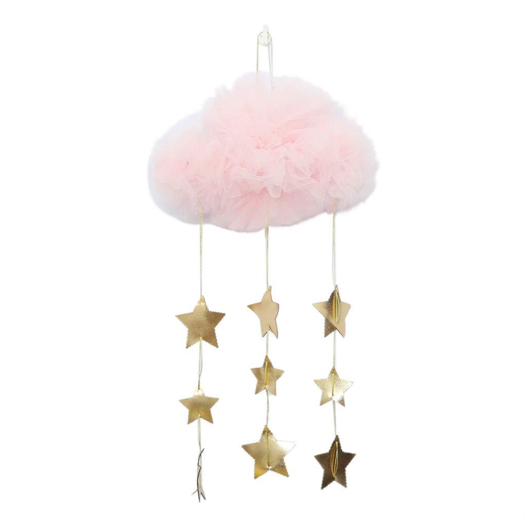 Zanzariera letto-TianranRT★ Tenda puntelli Nuvole e stelle Lettino da appendere giocattolo Culla Ciondolo in camera Anti-zanzara Tessili per la casa decorazione,B