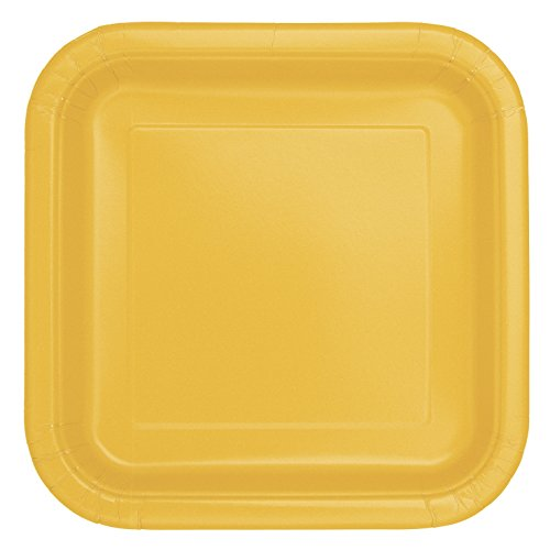 Square Yellow Paper Plates, - Yellow Paper Plates Made In Usa