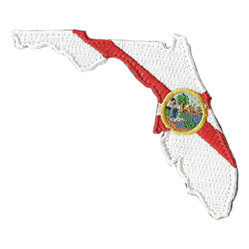"Die Cut Florida State Patch - 2"" x 3"" - Full Color"