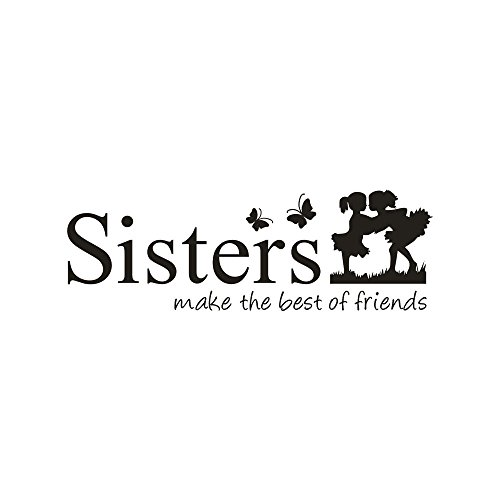 - EdC DIY Family Sisters Word Sticker, DIY Removable Cute Detachable Wallpaper Lovely Decorative Wall Stickers for Living Room Nursery Kids Bedroom Home Decoration Vinyl Art Mural Decor