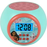 Moana LCD Color Changing Projecting Digital Display Alarm Clock Children Kids Toddler