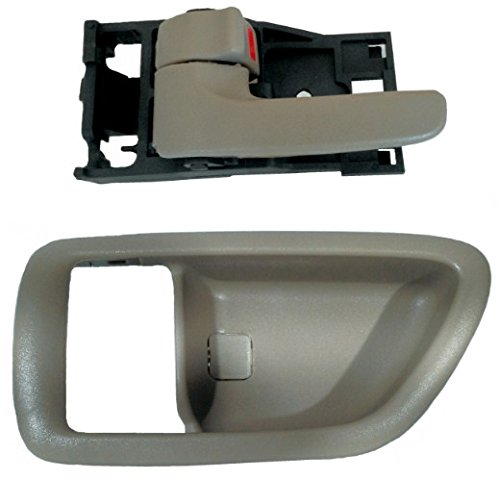 DELPA CL4361 > Left Inside Gray Door Handle + Bezel Fits: Toyota Tundra 00-06 (Double Cab only!) - Avalon 00-04 - Sequoia 01-07 ()