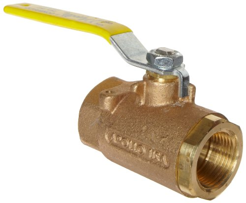 Apollo 71-140 Series Bronze Ball Valve with Stainless Steel 316 Ball and Stem, with Mounting Pad, Two Piece, Inline, Lever, 1