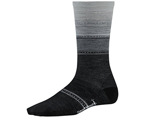 Smartwool Women's Sulawesi Stripe Socks, Charcoal Heather, Medium