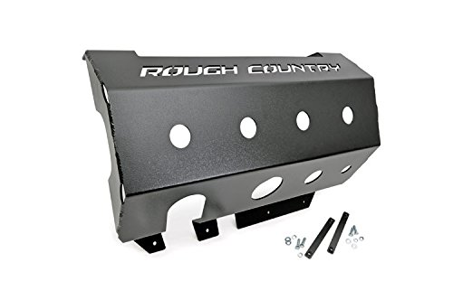 Rough Country - 779 - Muffler Skid Plate for Jeep: 07-18 Wrangler JK 4WD, 07-18 Wrangler Unlimited JK 4WD/2WD