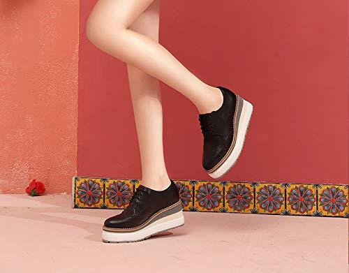 Scarpe da donna Tacco Spesso Autunno Scarpe Bianche Piccole Scarpe  Stringate Inglesi Scarpe Intagliate Scarpe con Plateau  Amazon.it  Scarpe e  borse b8944def19c