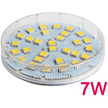 best to buy 6 pack gx53 7w 30smd5050 led chips 5000k white ceiling down light bulb lamp. Black Bedroom Furniture Sets. Home Design Ideas