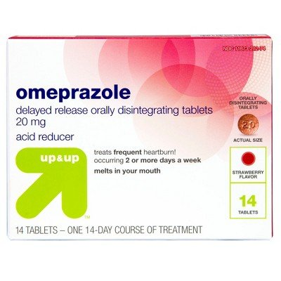 Omeprazole Delayed-Release Orally Disintegrating Tablets, 20mg - 14ct - Up&Up153;
