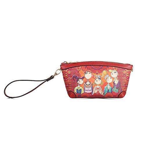 la grande ocasional 2018 del de multicolor coreano de bolso Orange Mini del Color cosmético del bolso diagonal mensajero capacidad nuevo Bolso Red del Bolso bolso Uqw5ff0