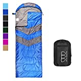 sleeping bag - Gold Armour Sleeping Bag – Sleeping Bag for Indoor & Outdoor Use - Great for Kids, Boys, Girls, Teens & Adults. Ultralight and Compact Bags are Perfect for Hiking, Backpacking & Camping (Blue/Gray)
