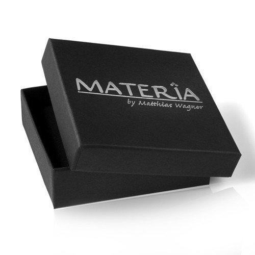 MATERIA 45cm Ankerkette mit Perlen Ohrstecker Kirschbl/üten Silber 925 und Anh/änger in Box #1-3-30