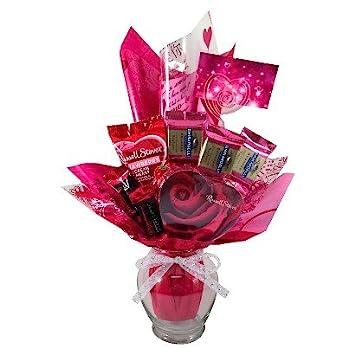Amazon Com Valentine S Day Candy Chocolate Bouquet Arrangement
