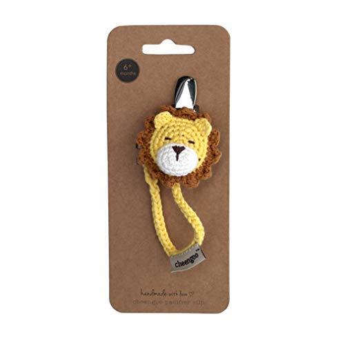 Cheengoo Hand Crocheted Pacifier Clip - Lion