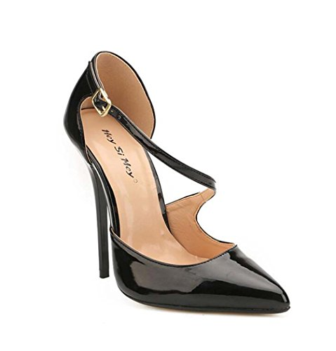 para Punta de de Tac pie Grande Estrecha con Correa Zapatos Sandalias de Mujer 5qtanwd