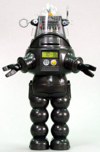 10″ Forbidden Planet Robby the Robot Electronic Talking Coin Bank and Alarm Clock