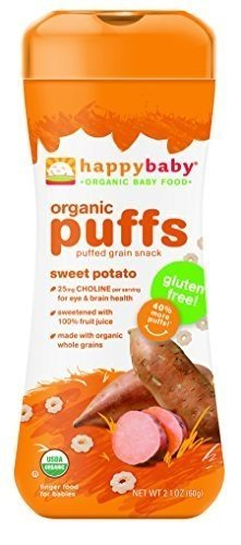 Happy Bites Swt Potato Puffs Og2 Gf 2.1 Oz by HAPPYBABY (Image #1)