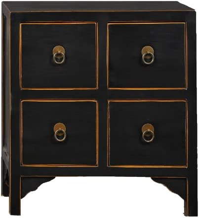 Editors' Choice: Antique Revival Wooden 4-Drawer End Table