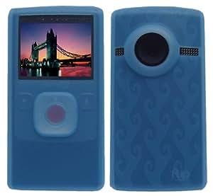 Light Blue Premium Soft Silicone Skin Case for Flip Ultra HD Camcorder