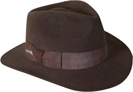 4e87c8d65 Indiana Jones Men's Crushable Wool Fedora Hat Chocolate Medium
