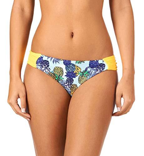 Cleo by Panache Carmen Ruched Side Bikini Brief (CW0116),Medium,Tropical Print ()