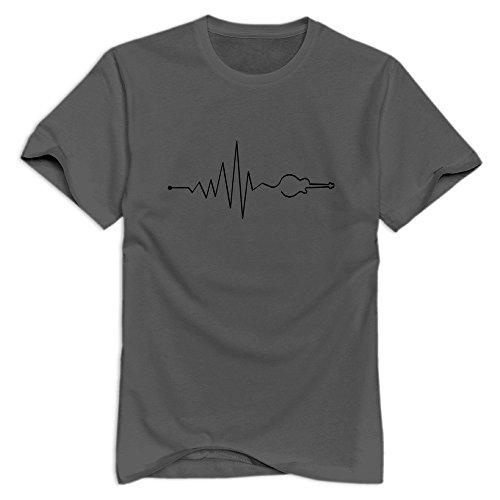 Xuruw Male Musik Vibe Guitar Novelty T-Shirt DeepHeather