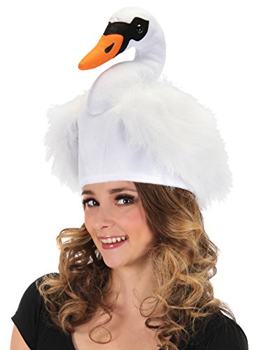 elope White Swan Costume Plush Bird Hat