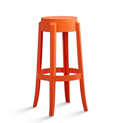 Bar stool / bar stool / plastic high stool / simple creative bar stool / front desk stool ( Color : Pink ) by Xin-stool