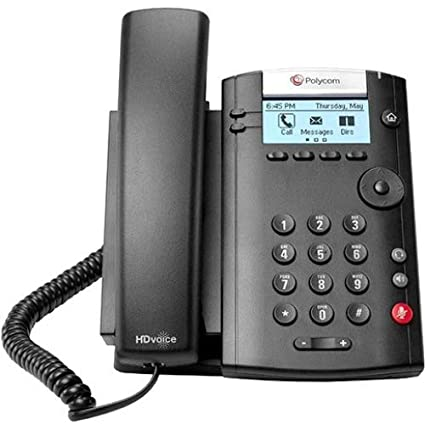 Amazon com: Polycom 201 IP Phone - Desktop, Wall Mountable