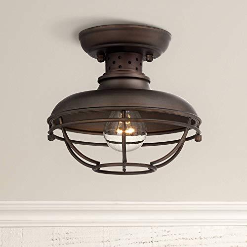Franklin Park Rustic Outdoor Ceiling Light Fixture Bronze 8 1/2