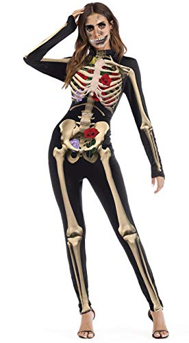 U LOOK UGLY TODAY Womens Party Sexy Jumpsuit Costume Slim Fit Cosplay Fancy Party Dress with Zipper