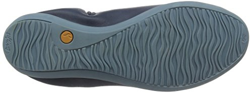 Ona380sof Navy Washed Blu 013 Ballerine Punta Chiusa Softinos Donna 1fwqzfd