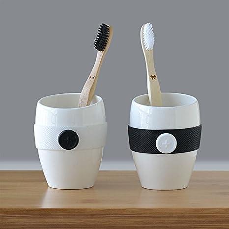 PEIWENIN-Cuarto de baño creativo simple cepillado tazas de enjuague bucal tazas de baño Europea