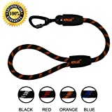 "KRUZ PET KZROPE5020-S8L 20"" Traffic Short Dog Leash with So' Silicone Grip, Large"