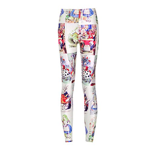 Dorathy Women Sexy Leggings Alice In Wonderland Pants Slim Fitness (Alice In Wonderland Tights)