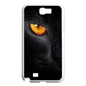 Black Cat Evil Eye Samsung Galaxy N2 7100 Cell Phone Case White Delicate gift AVS_724870