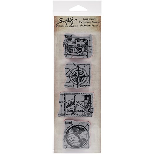 (Stampers Anonymous Tim Holtz Mini Blueprints Strip Cling Rubber Stamps, 3